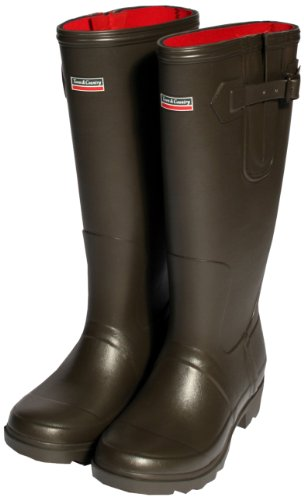 Town and Country The Rutland Neoprene Lined Wellington Boot - Chocolate