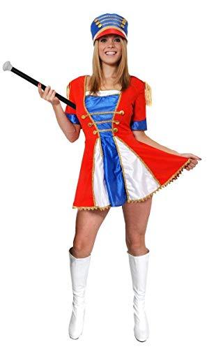 Kostüm Majorettes - ILOVEFANCYDRESS SPIELZEUGSOLDAT-WEIHNACHTSKOSTÜM Kleid DER Damen Majorette KOSTÜM Frauen + HOHE Hut + MARSCHSTOCK Cheerleader Ensemble (KLEIN)