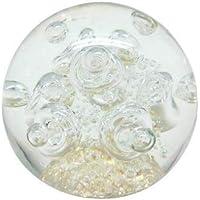 Pisapapeles de cristal redondo transparente 9cm
