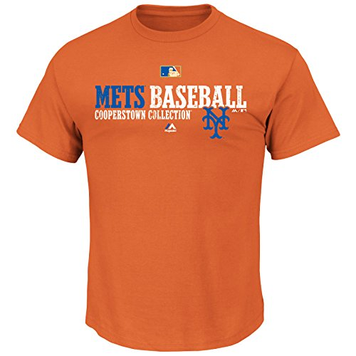 Majestic MLB Baseball T-Shirt New York NY Mets Team Property Cooperstown in XL Mets Cooperstown Collection