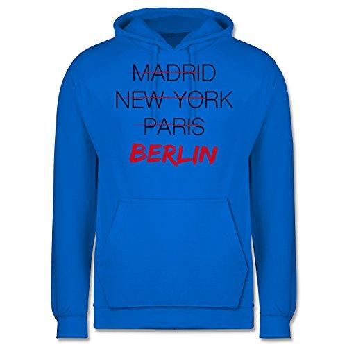 Städte - Weltstadt Berlin - Männer Premium Kapuzenpullover / Hoodie Himmelblau