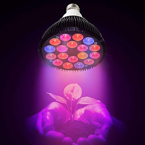 Niello® 36W E27 LED Pflanzenlampe Birne Licht Wachstum Vollspektrum 18 LEDs Grow Lamp für Zimmerpflanzen Blumen und Gemüse