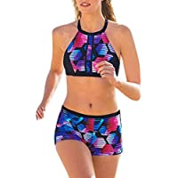 Bikini Mujer 2019 Push up Cintura Alta brasileño Sexy Traje Baño Ropa Interior Baño Relleno Tanga Vendaje Sujetador Playa Conjunto Impreso Bañador Cintura Verano