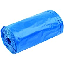5rollos Mini point-segment estilo bolsa de basura, lommer soporte de regla bolsa de basura para coche escritorio Papelera–8,3x 13.8inch (15piezas/roll) 21*35cm azul
