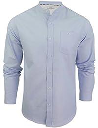 a8ac8eb8d Xact - Camisa Casual - Básico - Cuello Abuelo - Manga Larga - para Hombre