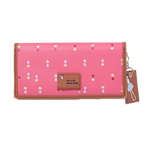 Moca Women's Wallet(Hot Pink,Tulp-L HP)