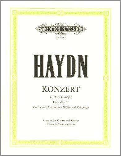 Konzert fr Violine und Orchester G-Dur Hob. VIIa:4 (Nr. 2)