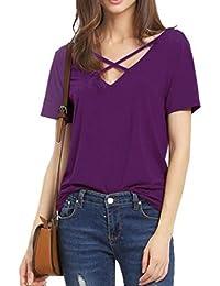Mujer De es Kitty Hello Ropa Amazon Camisas 4qzx7nX