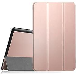 """Fintie Samsung Galaxy Tab E 9.6 Étui Housse - Slim Fit PU Cuir étui Coque Case Cover avec Support Ultra-Mince et Léger pour Samsung Galaxy Tab E 9,6"""" T560N / T561N (9.6 Pouces), Or Rose"""