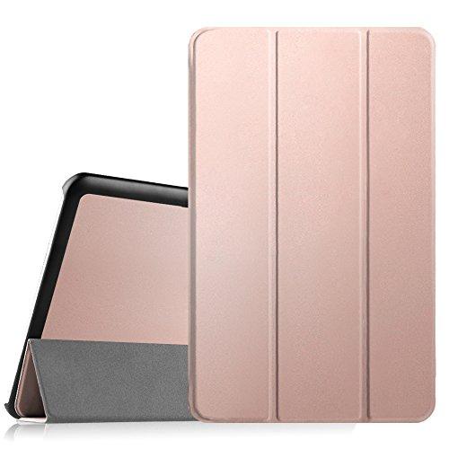 Fintie Samsung Galaxy Tab E 9.6 Funda - Súper Thin Ligero Case Funda Carcasa con Stand Función para Samsung Galaxy Tab E 9.6 Wi-Fi SM-T560 T565, Oro Rosa