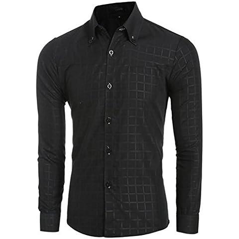 Tops Maglietta Clode® Adatta Uomo Camice Casuali a Maniche Lunghe Slim Fit Plaid Tops