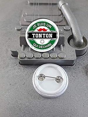 Badge 25 mm Je suis un Tonton qui Déchire