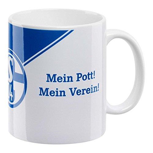 FC Schalke 04 Kaffeebecher 'Mein Pott Mein Verein' schräg-neu