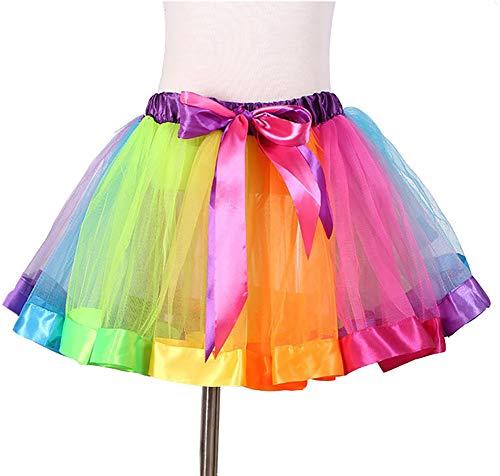 HeiHy Mädchen Regenbogen Ruffle Tutu Rock Ballet