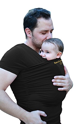 Camiseta de porteo, camiseta portabebés. Anticólicos bebé Hombre Amarsupiel Talla L(44-46) Color negro
