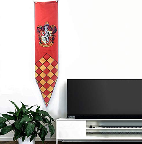TianLinPT Harry Potter Gryffindor Slytherin Hufflepuff Ravenclaw Hogwarts Wall Banners House Flags Decoration for Bar  club  living room  bedroom  30 147CM