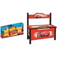 Preisvergleich für Kinder Sitzbank Disney CARS Kinderbank Bank Kindermöbel Holz