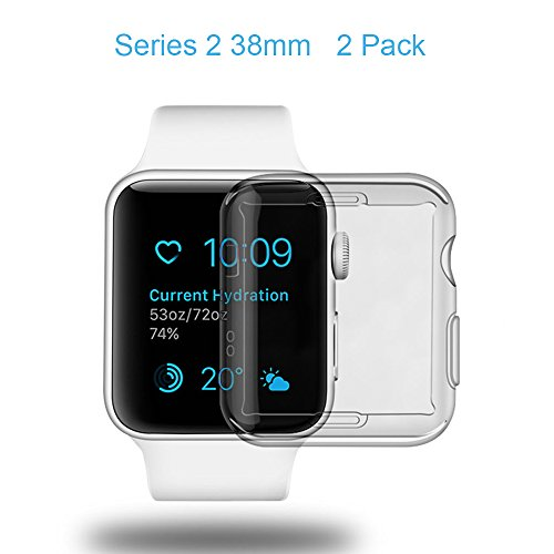 Galleria fotografica netural aceyoon Compatible for iWatch Screen Protector Case 38mm Series 2 2 Pack Clear Screen Protective Cover Compatible for Apple Watch Series 2 38 mm