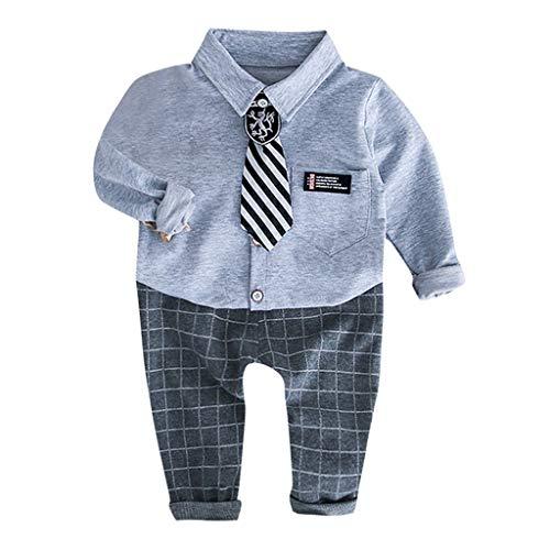 Poachers Poachers Kleinkind Kinder Baby Jungen Gentleman T-Shirt Kariert Hosen Hosen Binden Outfits Set