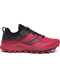 Saucony Peregrine 10 St Barberry/Black, Zapatillas de Atletismo para Mujer