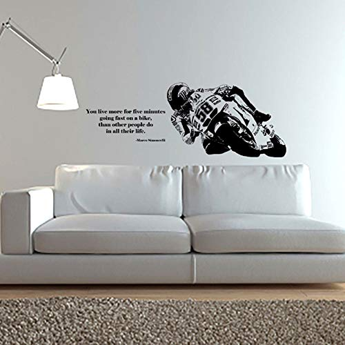 Decalcomania della parete del vinile arte complementi arredo casa bici moto sport decalcomania camera dei bambini decorazione rimovibile poster a 42 * 110 cm