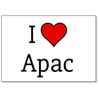 Mundus Souvenirs - I Love Apac, fridge magnet (design 3)