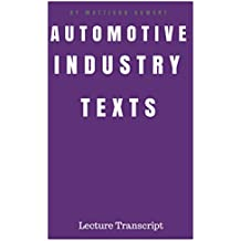 Automotive Industry Texts: Transcript Lecture