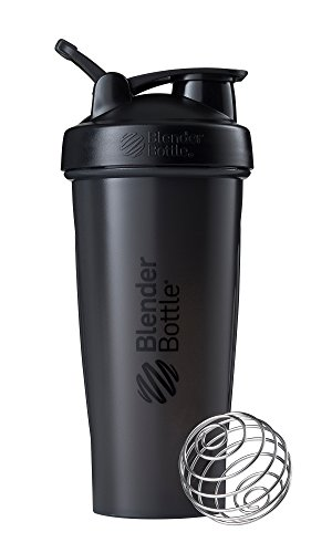 BlenderBottle Classic Loop Shaker, Protein Shaker mit BlenderBall 820ml, schwarz
