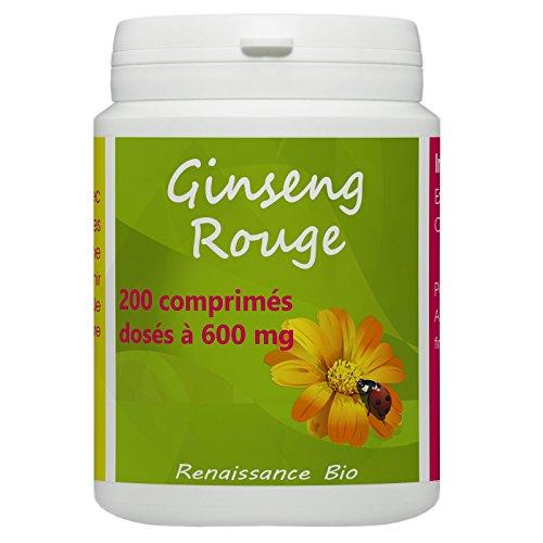 Ginseng Rouge - 600 mg - 200 comprimés