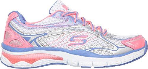 Skechers Sport Neon Lights moda Sneaker White/Pink