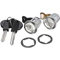 Republe 1 Interruptor de Par Puerta Cerradura de Cilindro y Elemento Clave para compensar Peugeot Citroen