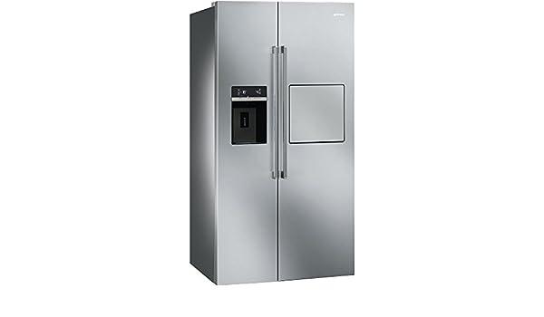 Smeg Kühlschrank Zweitürig : Smeg standkühlschrank mit gefrierfach side by side sbs63xedh: amazon