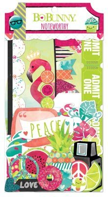 BoBunny #Forever Young Noteworthy Die Cut Scrapbook Embellishments by Bo Bunny