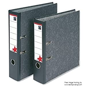 (Pack of 20) 5 Star Office Lever Arch File 70mm A4 Cloudy Grey