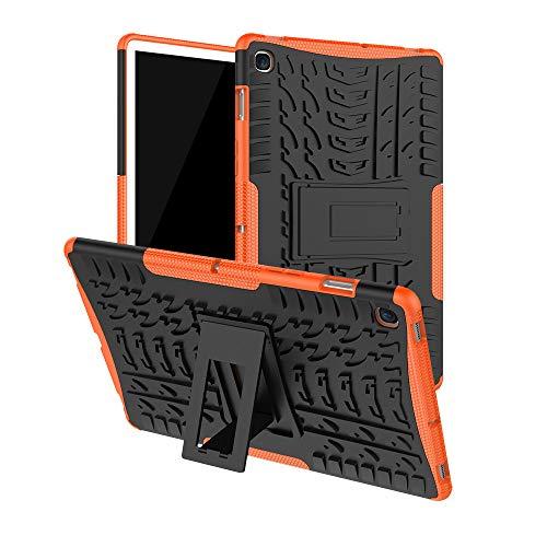 Ultra Dünn Hülle für Samsung Galaxy tab s5e 10.5 2019 t720 t725,Nourich Hybrid Robuste Hartgummi Ständer Case,Abdeckung Silikon Tasche Schutzhülle Tablet PC Cover Zubehör Case Replacement (Orange) -