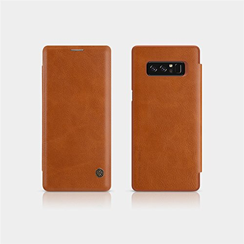 Sanchar's Qin Vintage Leather Case For Samsung note 8 Luxury Flip Cover Case for Samsung note8 Wallet Cases with Card Slot - Brown