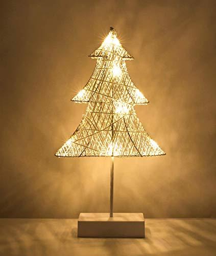 QINGLI Decoración De Navidad Lámpara De Mesa LED