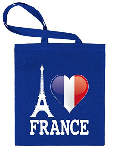 I Love France 4458 Stoffbeutel (Blau)
