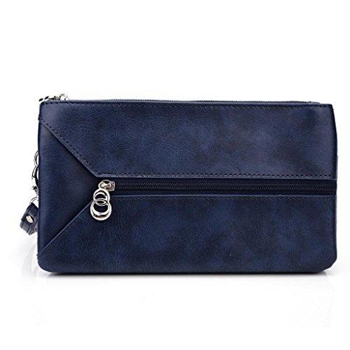Kroo Femme pour Pocketbook pour 15cm, phablettes, smartphones compatible avec Acer Liquid S2/S1 Noir/gris Blue and Red
