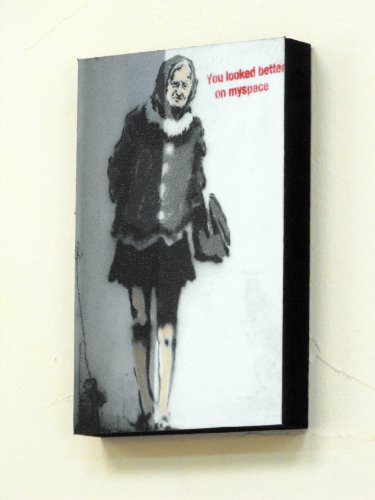 6-x-4-postcard-size-block-mounted-print-banksy-myspace-graffiti