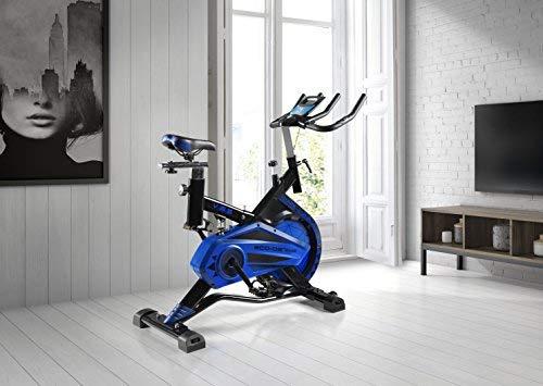 ECO-DE Bicicleta Spinning Shark. Uso semiprofesional con pulsómetro, Pantalla LCD y Resistencia Variable. Estabilizadores. Completamente Regulable.Rueda de inercia de 20kgrs