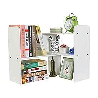 Wood Adjustable Desktop Bookshelf Assembled Bookcase Home and Office Literature Organiser Display Rack