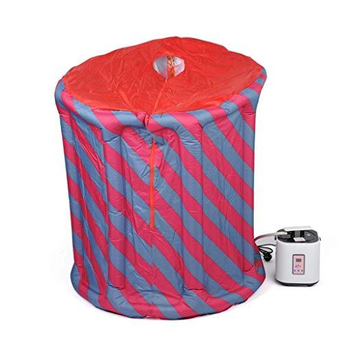 Adesign Tragbares Dampfsauna-Spa, 2.6L persönliche therapeutische Sauna zur Gewichtsreduktion, Entgiftung zu Hause, Sauna for eine Person mit Fernbedienung, Klappstuhl, Timer