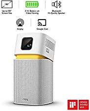 BenQ GV1 Mini Portable LED Projector for E22Wireless Entertainment with Bluetooth Speaker, USB-C, HDMI to USB-
