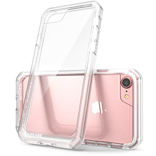 Custodia-iPhone-7SUPCASE-Unicorn-Beetle-Cover-Protettiva-con-Impact-Absorbing-Gomma-e-pannello-posteriore-completamente-trasparente-per-Apple-iPhone-7-2016