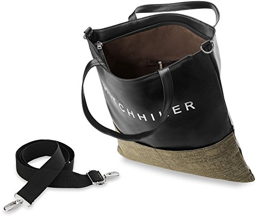 TRENDY ! Damentasche Handtasche für Jugendliche Shopper Bag geräumig (braun) braun