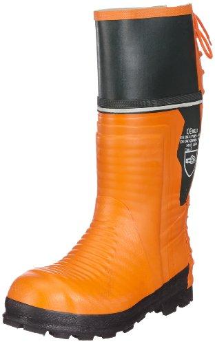 Schnittschutz-Gummistiefel 657-0-500-42 Stiefel, Schnittschutzklasse 2 (=24m/s), CE 0321, EN ISO 20345,  Orange ,45 EU (11 UK)