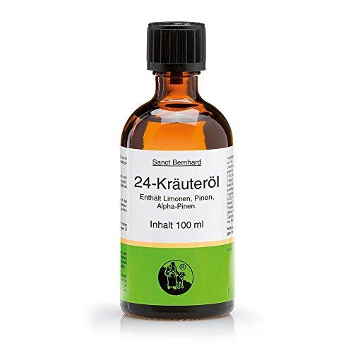 Öl-freie Massage (Sanct Bernhard 24-Kräuteröl, 100% reines ätherisches Öl, Inhalt 100 ml)