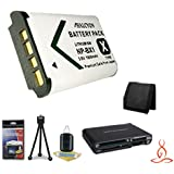 Halcyon 1800 MAH Lithium Ion Replacement NP-BX1 Battery + Memory Card Wallet + Multi Card USB Reader + Deluxe Starter Kit For Sony HDR-AS100V POV Action Cam And Sony NP-BX1