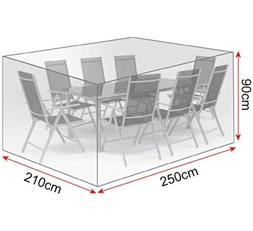 WOLTU/® GZ1167tp Coperture per Mobili da Giardino Tavoli Sedie Telo di Copertura Protezione Cover PE 240x136x88 cm